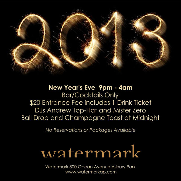 Watermark New Year's Eve 2013